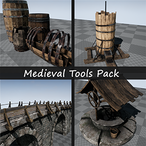 High quality tools pack for the creation of medieval environments.
