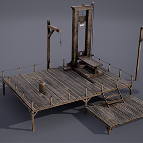 Low-poly PBR Torture pack models