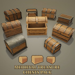 10 Animated Medieval Chests, ready to use in any project. Ideal for loot itens.