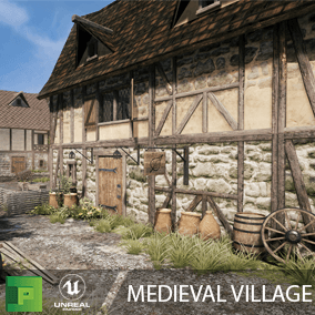 Medieval Village is a AAA quality environment pack with over 200 assets to create a historic scene.