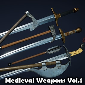 This package contains 23 different PBR medieval weapons.