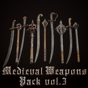 Realistic Hi-Quality Weapons for Medieval type games.