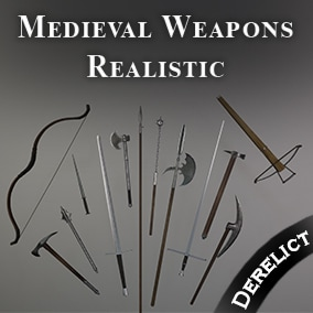 Variety pack of 30 quality realistic weapons, built from real world measurements, fully rigged and ready to use.