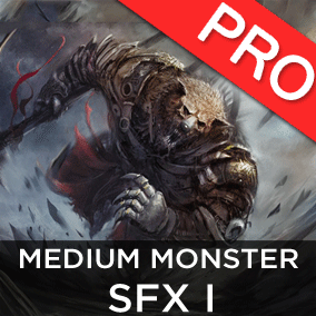 The Mediums Monster / Creatures SFX 1 sound effects pack features 12 high quality sounds. Troll, Ogre style