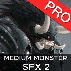 The Medium Monsters / Creatures SFX 2 sound effects pack features 19 high quality sounds. Troll, ogre style!