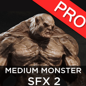 The Medium Monster / Creature SFX 1 sound effects pack features 19 high quality SFX