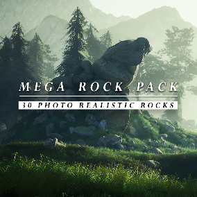 The Mega Rock Pack Consists Of 30 Photo Realistic Rocks, With Expensive Material Parameters, To Customize The Rocks To Fit In Every Scene.