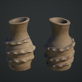 Megascans:乡村陶器是一个优质3D扫描合集,其中包括LOD和高多边形源,以及经过烘焙和校准的PBR贴图。