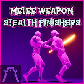 Collection of stealth finisher attacks with melee weapons