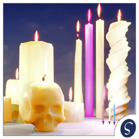 Pack of 14 colorful candles that will light up your project. They will light up, melt, and go out with a smoke. All functions are easy to set up and controlled in the Blueprint.