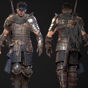 Fully rigged and game ready Mercenary Warrior character.