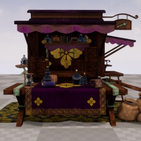 Customizable Merchant Caravans for Fantasy Environments