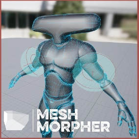 Mesh Morpher allows you to create/remove/modify morph targets easily from within the UE4 Editor.