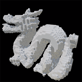 A fast and accurate mesh voxelizer. Used for creating and visualizing volumetric data.