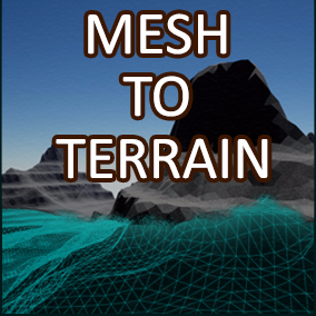 The mesh to terrain converter is the easiest way to transform your 3D meshes into terrain without the need of any third party tools!