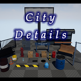 Asset pack specifically made for small and medium size urban needs.