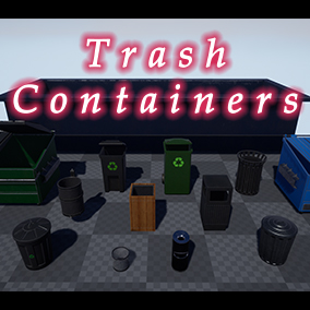 Trash containers for all your urban needs.