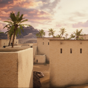 Ironbelly Middle Eastern Environment Pack featuring modular building materials, prop meshes, and more!