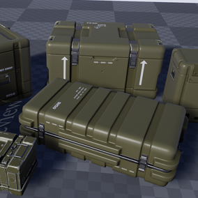 Pack of Military Crates.