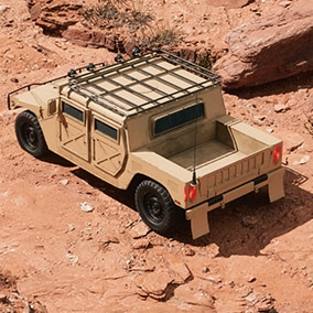 Customizable, Driveable and Interactive Military Drivable Vehicle
