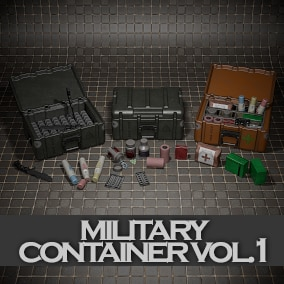 Pack of modular military and survival medical box