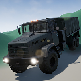 Customizable, driveable military truck with lights and sound