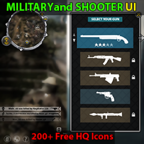 Military and shooter UI and Icons