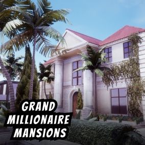 The Millionaire Mansion Pack has over 130 uniquely crafted assets allowing you to create vast open worlds or detailed linear levels.