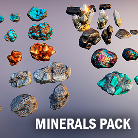 Package include ten kinds of minerals and each kind keep three different size meshes.