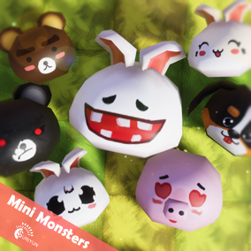 Mini Monsters 3D With 5 Animations.
