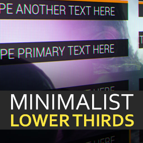 10 different lower third UMG Widgets for Unreal Engine 4.18 and above.