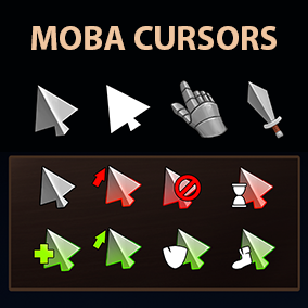 40 cursors for moba games