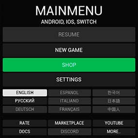 Mobile Menu + Shop - Responsive menu for your mobile games with in-game purchases.