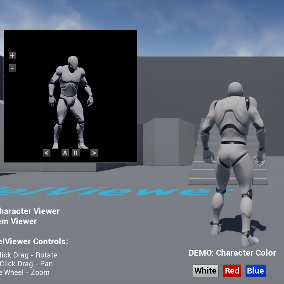 This Model Viewer enables you to simply add a Character / Item Viewer to your Game with posibility to apply custom parameters to the Model.