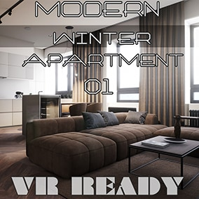 Winter apartment. Warm design for apartment on a snowy hill. This is the perfect abode for an individual or a couple who love the beauty of modern minimalist interior design.