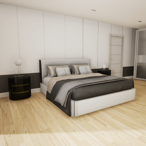 High quality bedroom pack with 45 objects.