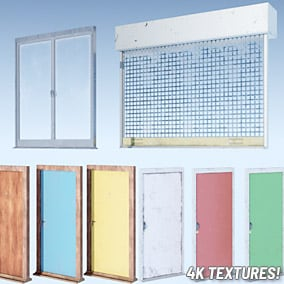 High-quality, interactive door models for modern settings. 4K textures!