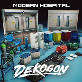 A collection of props and parts found in a Modern Hospital!