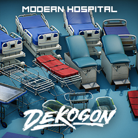 A collection of beds, carriers, and gurneys found in a Modern Hospital!