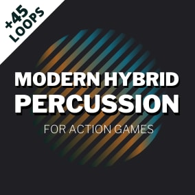 49 high-quality, hybrid percussive loops categorized into 3 intensity levels. Ideal for modern & sci-fi action games.