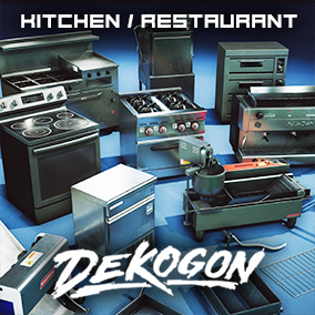 A collection of machines for food prep and service found in a Modern Kitchen/Restaurant