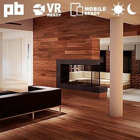 Hazelwood Loft is a highly optimized cross-platform project showcasing the interior & exterior of a two-story photo-realistic modern loft in both day and night time along with it's surrounding city.
