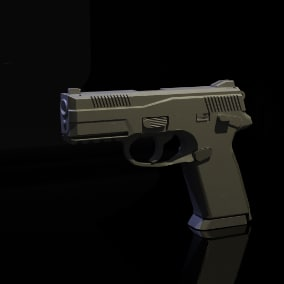 Modern Pistol with third person animations