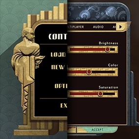 Flexible elegant Art Deco themed UI with both pre-cut and assembled UI elements to fit your needs.