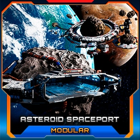 Dock your Mining ship to these stylish Asteroid Space Stations!