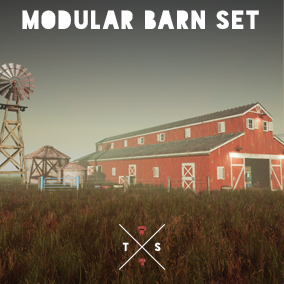 Modular Barn pack with barn props and spline power lines