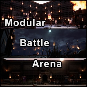 High quality modular battle arena assets for you to assemble your battle arena scene