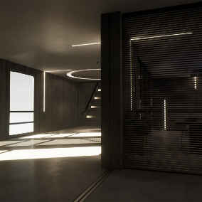 Modular brutalist style office pack to create high quality environments with ease.