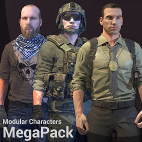 The pack includes : 47 assembled characters , 107 materials for customization, and 70 body parts.