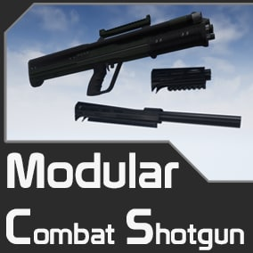 A Modular Combat Shotgun With Easily Interchangeable And Colourable Parts